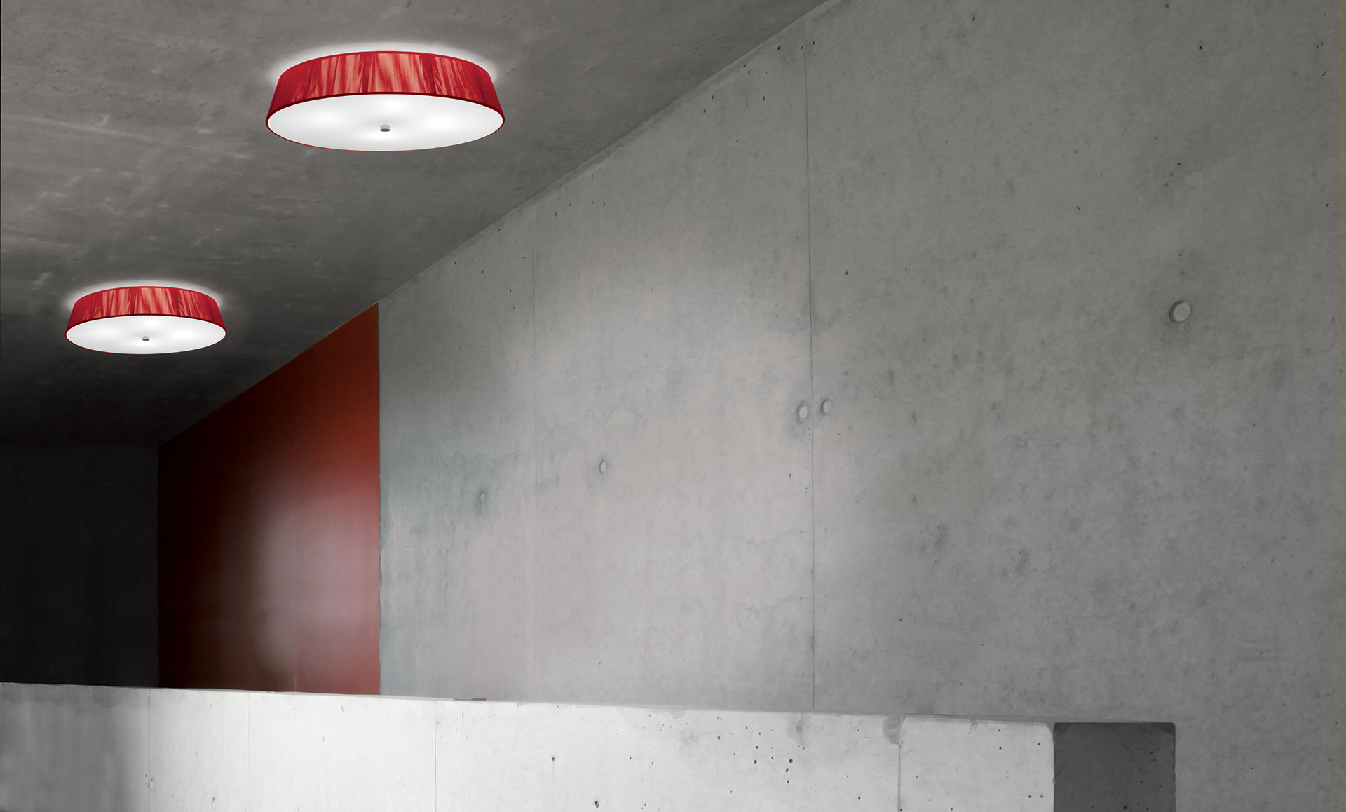 Lilith PL40 - Ceiling - Red - by Leucos